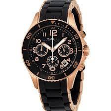 Marc Jacobs Pelly Chronograph Black Dial Rose Gold-tone Steel Ladies Watch MBM2553