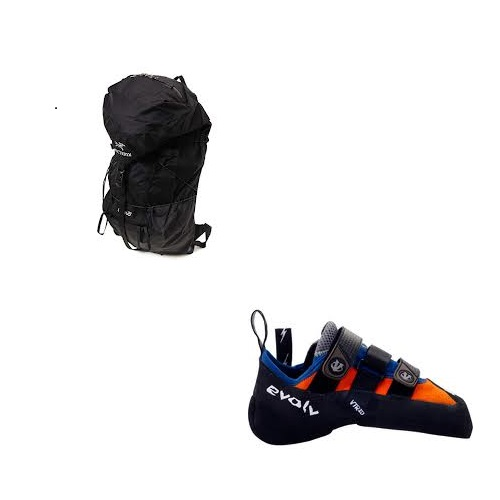 Shaman climbing shoes、Cierzo 25L Backpack-Black
