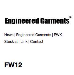 ENGINEERED GARMENTS / エンジニアド ガーメンツの最新アイテムを個人輸入・海外通販