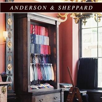 ANDERSON & SHEPPARD/アンダーソンシェパードの最新アイテムを個人輸入・海外通販