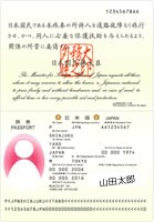 パスポート顔写真入ページ