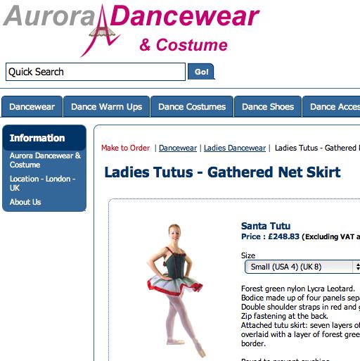 Aurora Dancewear / オーロラダンスウェアの最新アイテムを個人輸入・海外通販